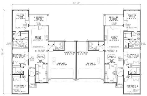 Multi Unit House Plans by Traditional Multi Unit House Plans Home Design Rosewood