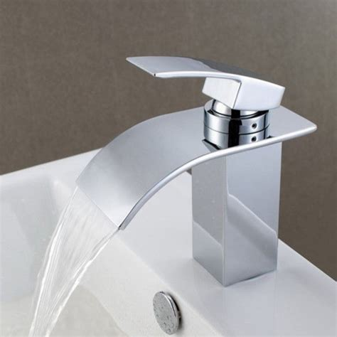 Bath Faucets by Waterfall Bathroom Sink Faucet 8061