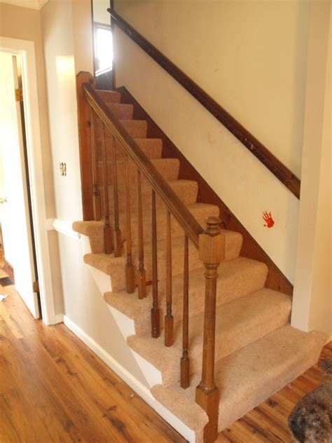 Mahogany Banister by Stair Simple Stair Design With Mahogany Newel Post And