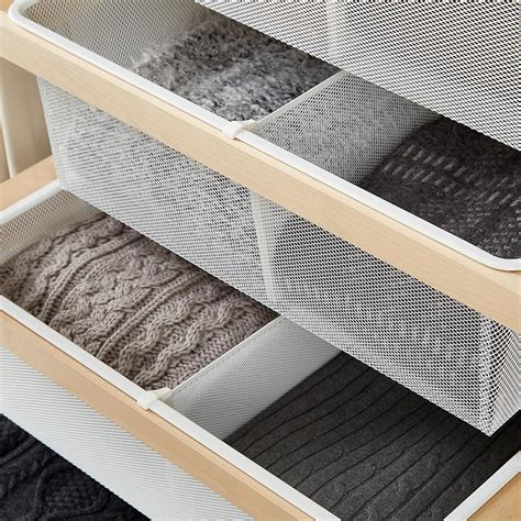 Mesh Drawers by White Elfa Mesh Drawer Dividers The Container Store