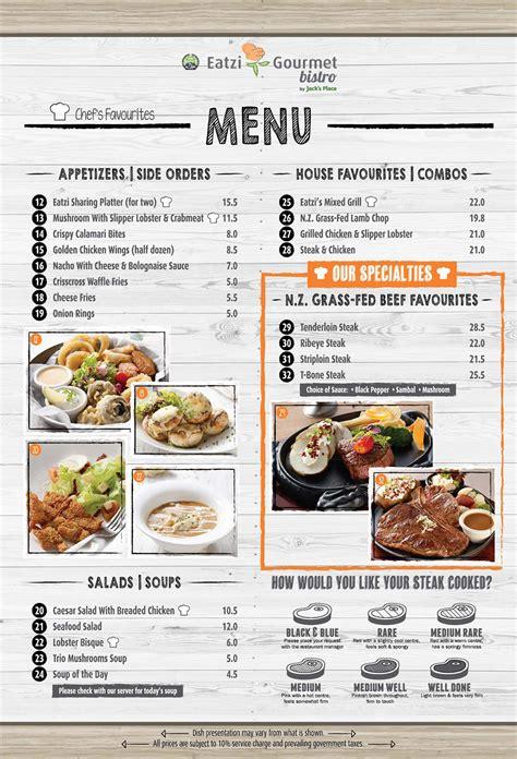 la carte menu a la carte menu eatzi gourmet bistro