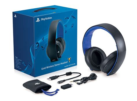 new sony gold wireless stereo headphones headset ps4 wireless gamers gaming ebay
