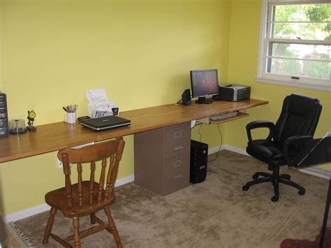 Built In Desk Is Better Than Anything We Could Buy Jumptuck How To Build An Office Desk
