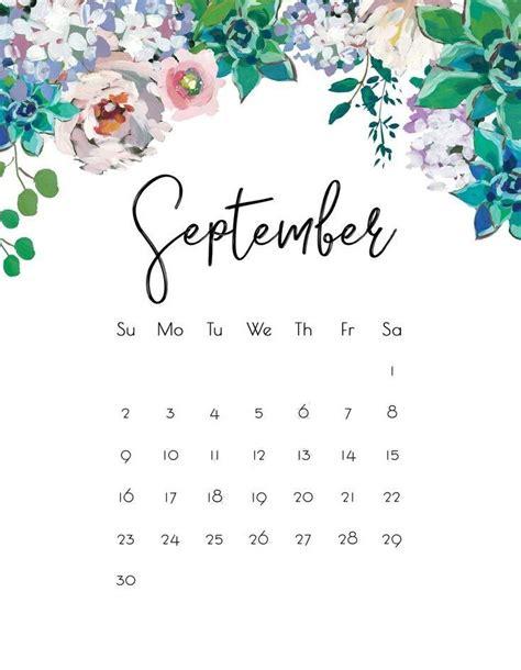 floral september  wall calendar kalendar dlya pechati planirovshchiki letnie oboi