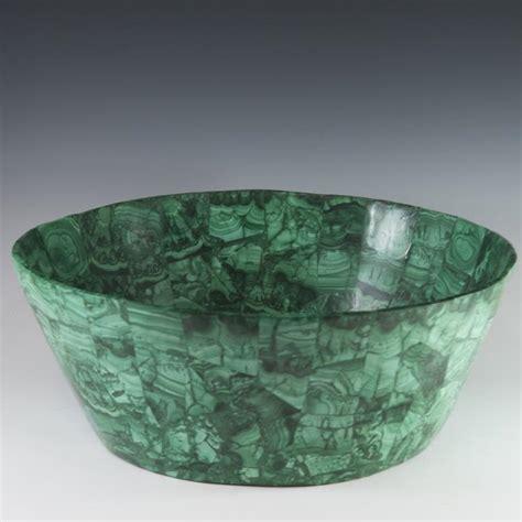 large decorative malachite bowl