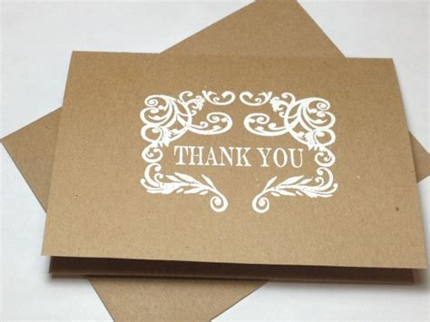 Handmade Baby Shower Thank You Cards - rustic wedding handmade thank you note card set embossed