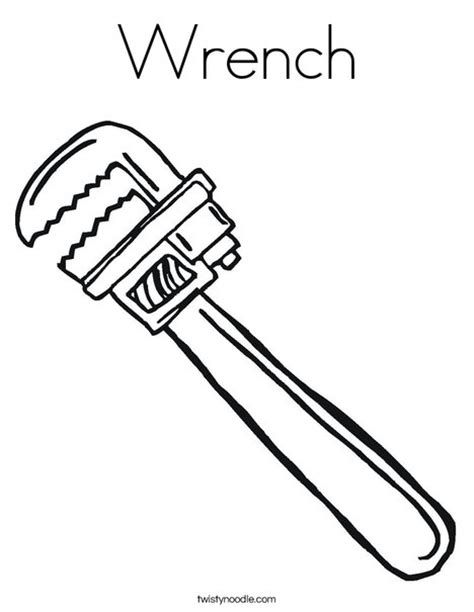 coloring page tools wrench coloring page twisty noodle