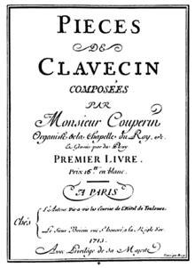 Premier livre de pièces de clavecin de Couperin — Wikipédia