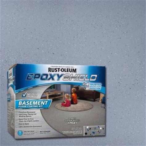 rust oleum epoxyshield 1 gal gray satin basement floor