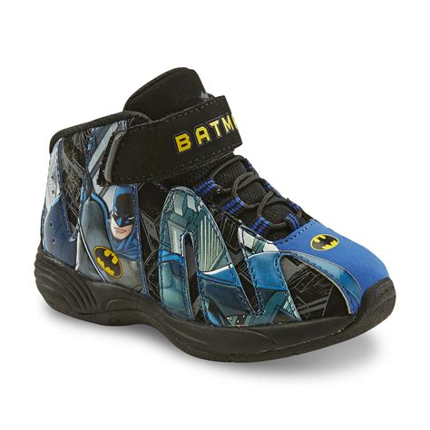 batman tennis shoes for dc comics toddler boy s batman black blue yellow high top