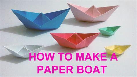 boat using origami paper paper boat craft find craft ideas