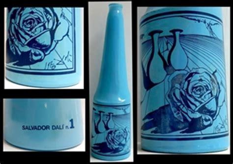a vintage salvador dali blue glass bottle vase auction