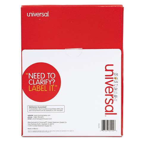 printable laser labels laser printer permanent labels by universal 174 unv80104