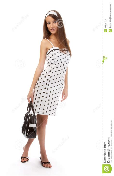 Dress Model Black White Impor model in retro clothes stock photo image of open expression 35534278