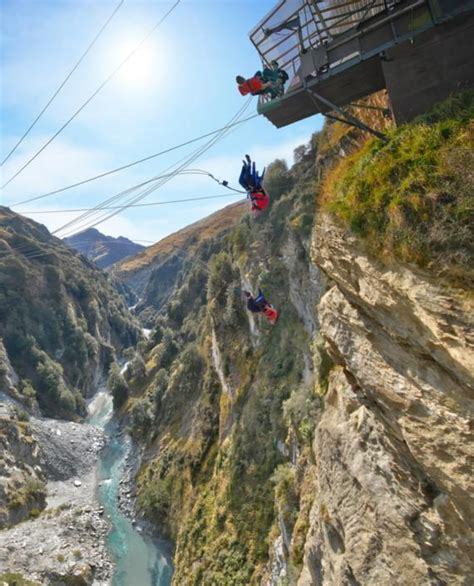 new zealand cliff swing ride the chair of death on world s highest cliff drop
