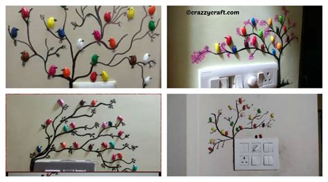 How To Learn To Decorate Your Home birds tree wall decoration diy tutorial diy home tutorials