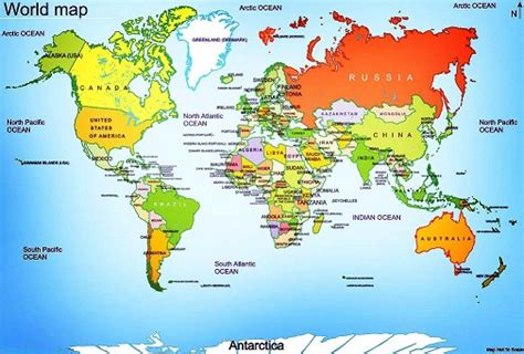 world map of seas and lakes mrs world map country