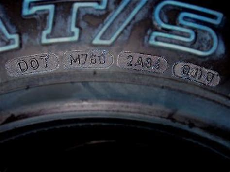 Age Of Car Tires Code Sle Dot Code