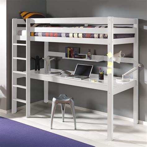 bureau etagere enfant lit enfant superpos 233 bureau etag 232 re quot pino quot blanc