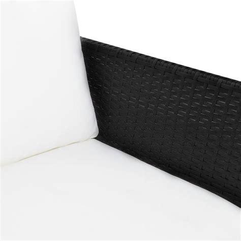 Lounge Sofa Outdoor Polyrattan by Vidaxl Black Outdoor Poly Rattan Lounge Set Three Seat