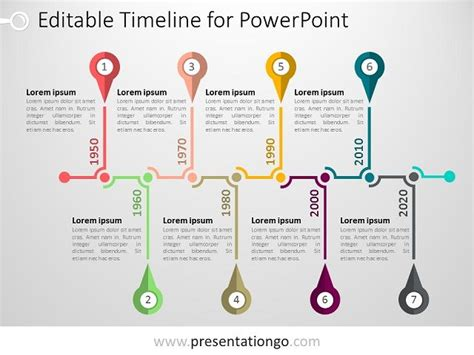 timeline template powerpoint free 25 best ideas about powerpoint timeline slide on