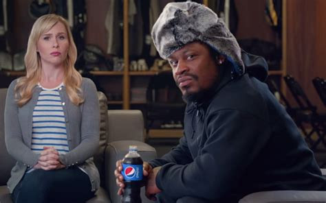 pepsi commercial larry actress watch marshawn lynch trades beast mode for speech mode in