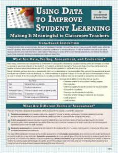 using data to improve student learning in middle school books new laminated guide using data to improve student