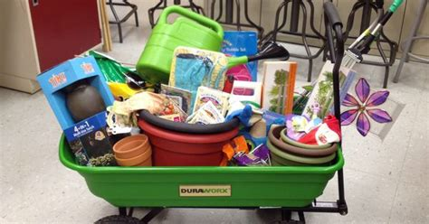 Gardening Basket Ideas School Raffle Basket Garden Theme Silent Auction Basket Ideas Pinterest Gardens Raffle