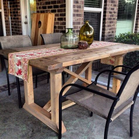 diy rekourt farmhouse dining table plans pictures of