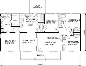 Cheap Floor Plans Build 4 Bedroom Ranch House Plans Plan W26205sd Traditional