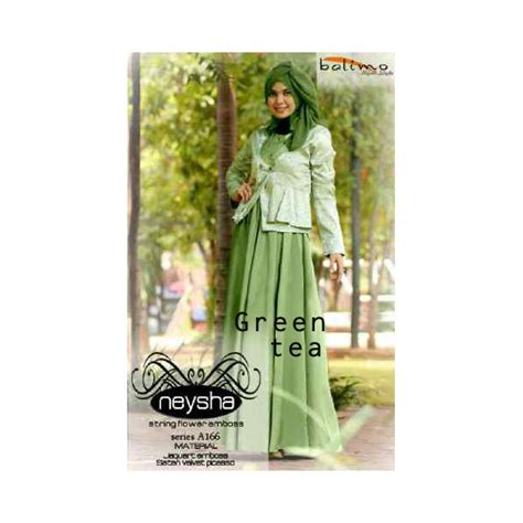 Dress Flower Brukat Black Terlaris neysha green tea baju muslim gamis modern