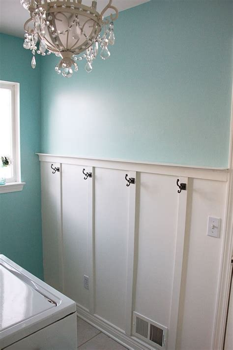hooks for rooms a higher chair rail with hooks for bathroom guest room bling out your laundry room