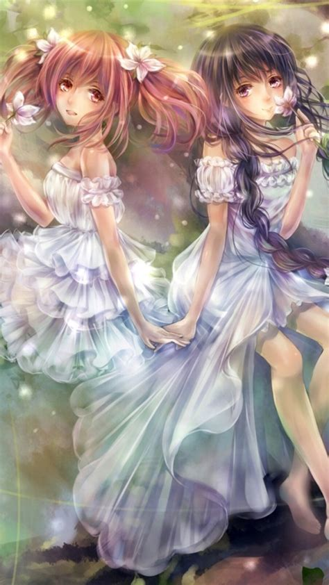wallpaper anime twins anime twins wallpaper free iphone wallpapers