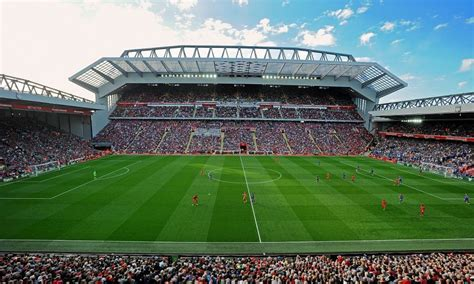 Liverpool FC corporate hospitality box at anfield stadium