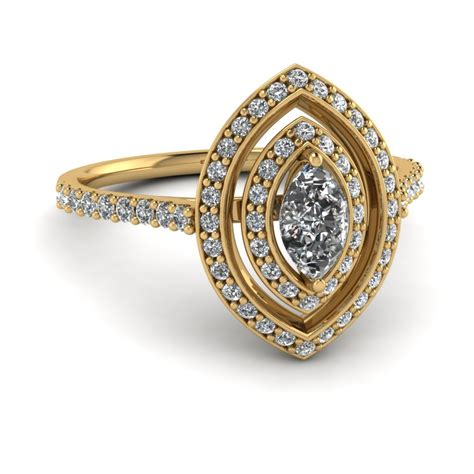 yellow gold marquise white engagement wedding ring