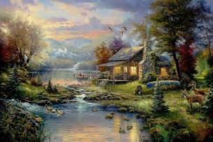 home interiors kinkade prints can you find the serial killers in these kinkade