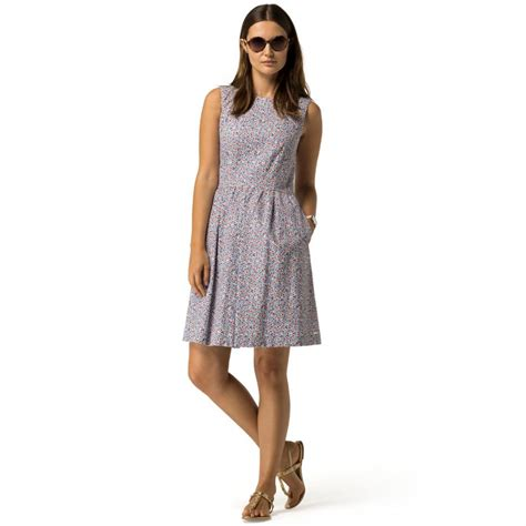 sleeveless dress womens tommy hilfiger clothing fluid floral sleeveless