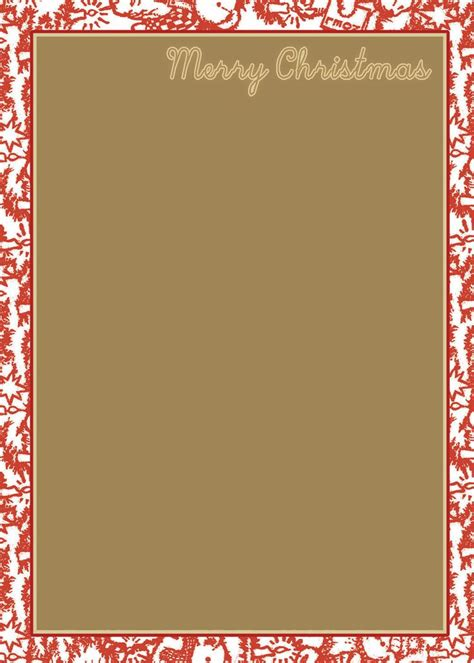 58 Best Printable Christmas Winter Paper Images On Pinterest Christmas Images Christmas Paper Template With Border