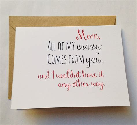 mom cards mom card mother s day card mom birthday card funny