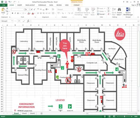 draw floor plans in excel 16 best floor plan images on pinterest evacuation plan