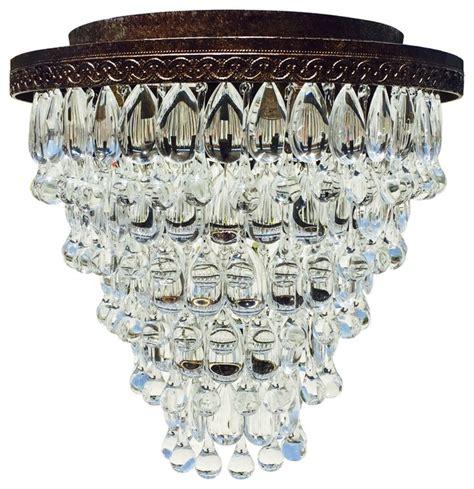 mediterranean chandelier lightupmyhome weston 7 light flush mount glass drop