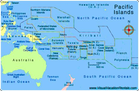 map of south pacific the scuba sailors where are you going
