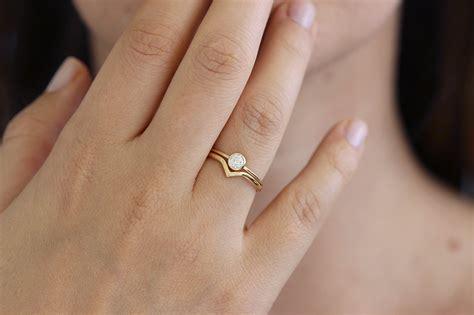 minimalist wedding rings minimalist wedding ring set with 0 2 carat artemer