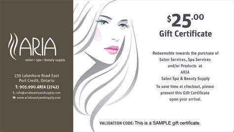hair salon gift card templates hair stylist gift certificates professional and high
