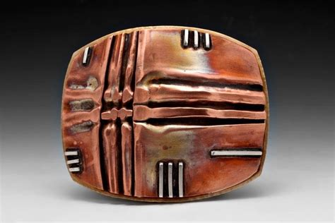 Handmade Buckles - handmade fold form belt buckle in copper brass sterling