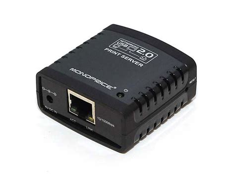2 print server networking usb 2 0 print server monoprice