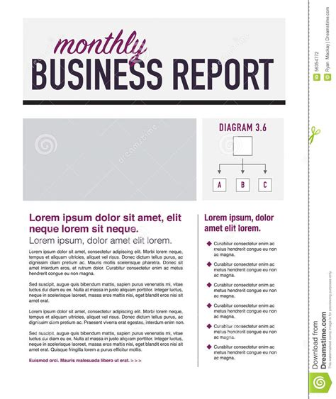 page layout of a report business report stock vector image 56354772