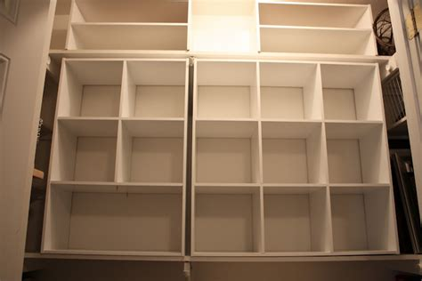 Closet Shelving Unit by Organizing A Junk Closet With Cube Storage Units