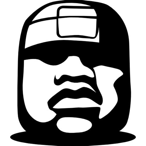 imagenes olmecas para colorear olmec colossal head free monuments icons