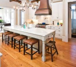 table island for kitchen 30 kitchen islands with tables a simple but clever combo